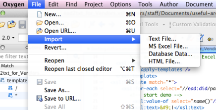Importing Excel into Oxygen